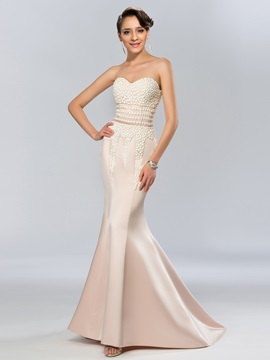 Elegant Sweetheart Mermaid Court Train Long Evening Dress