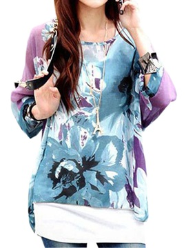 Loose Style Floral Printing Blouse