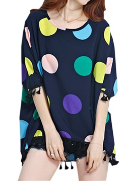 Special Color Polka Dots Loose Blouse