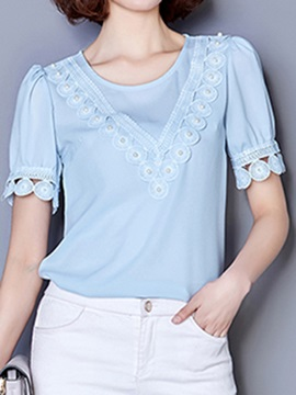 Stylish Bead Decoration Short Blouse