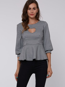Stylish Peplum Slim Blouse
