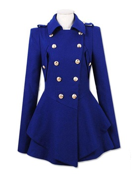 Double Breasted Big Hem Trench Coat