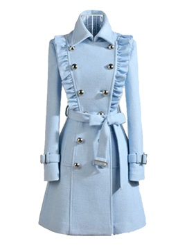 Pleated Decoration Slim Trench Coat