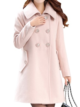 Big Button Slim Trench Coat