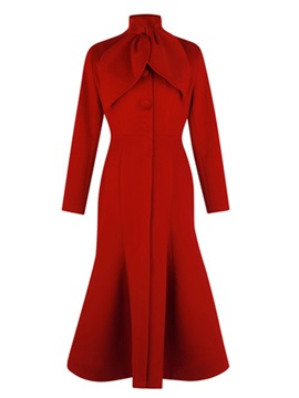 Chic Collar Special Hem Slim Trench Coat