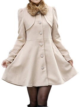 Splendid Warm Collar Slim Trench Coat