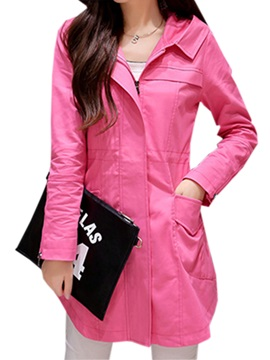 Casual Big Pocket Hooded Trench Coat