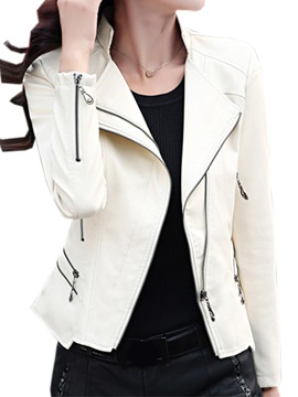 Cool Zipper Decoration Cuff Jacket