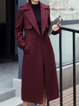 Special Lapel Long Trench Coat