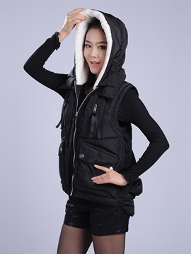 Casual Hooded Cotton Short Vest
