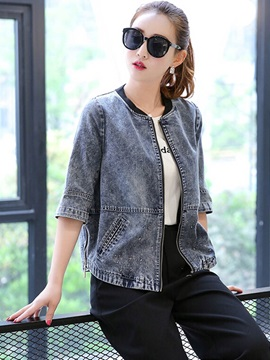 Casual Denim Loose Jacket