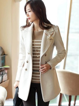 Stylish Multi Color Mid-Length Trench Coat