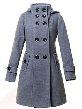Stylish Multi Color Hooded Overcoat