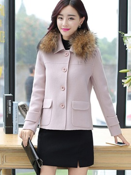 Stylish Pocket Short Overcoat