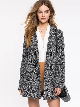 Stylish Double-Breasted Lapel Loose Overcoat