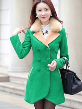 Stylish Double-Breasted Thick Overcoat