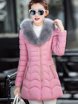 Stylish Button Thick Overcoat