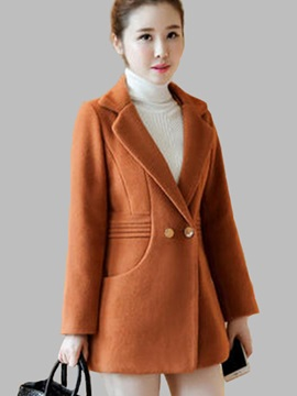 Chic Button Mid-Length Overcoat