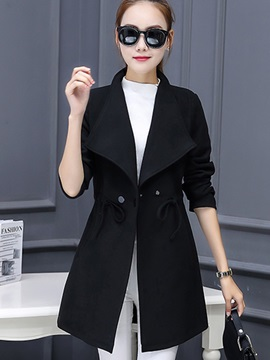 Chi Lace-Up Mid-Length Overcoat