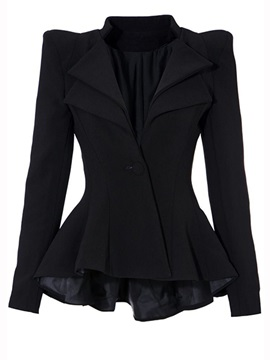 Stylish One Button Plain Blazer
