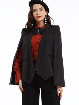 Stylish Plain Shawl Collar Blazer