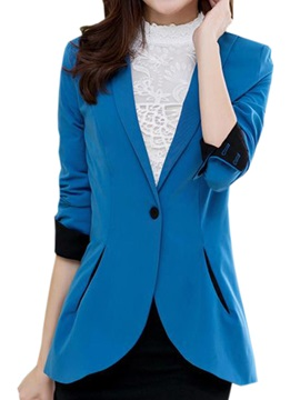 Special Hem One Button Slim Blazer