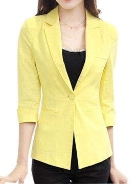 OL Three-Quarter Sleeves Slim Blazer
