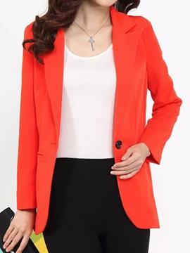 Chic One Button Blazer