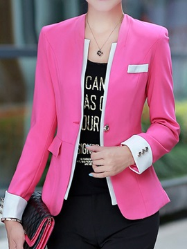 Special Pocket Decoration Slim Blazer
