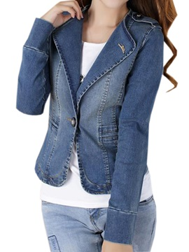 Chic Lapel One Button Short Jacket