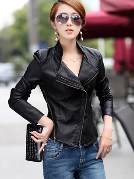 Cool Lapel PU Jacket