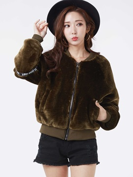 Stylish Animal Embroideried Loose Jacket