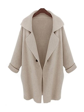 Chic Big Lapel Loose Trench Coat