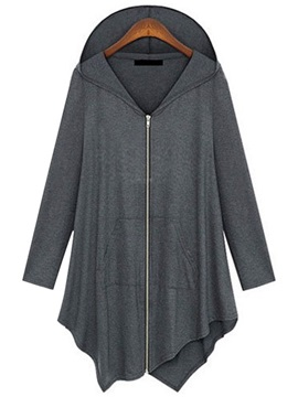 Casual Hooded Loose Trench Coat