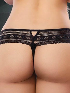 See-through Solid Hollow Women Thong