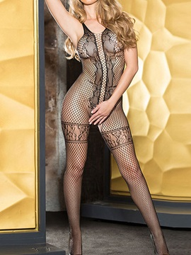 Sexy Fish Net Open Crotch Bodystocking