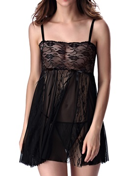 Sheer Lace Badydoll Women's Sexy Lingerie