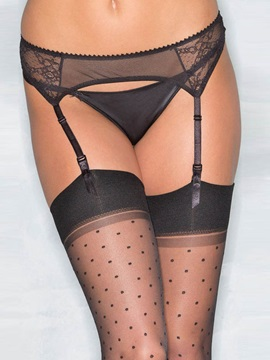 Black Lace Fishnet Garter