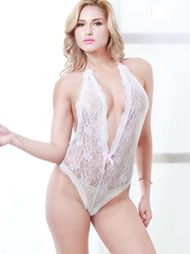 Lustful Open Back Lacy Teddy