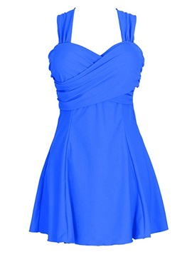 Fancy Blue Beach Dress Swimsuit