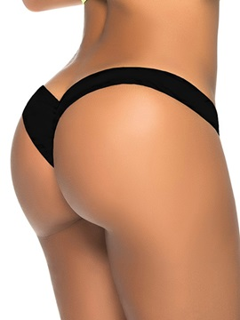 Black Seamless Low Waist Panty