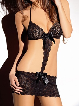 Beautiful Halter Women Bra Sets With Bow