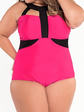 Plus Size Strappy One-Piece Swimsuits