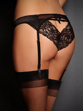 Black Lace Sexy Bowknot Garter