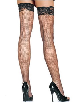 Sexy Back Seam Fishnet Stockings