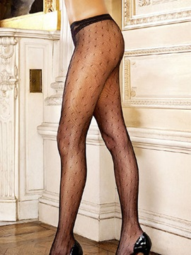 Black Printing Lace Stockings