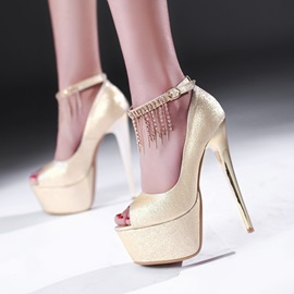 New Classy with Tassels Stiletto Heel Sandals