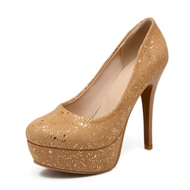 Sequins Stiletto Heel Platform Pumps