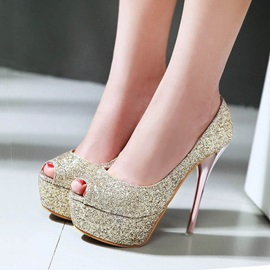 Sequins Peep-Toe Prom Shoes