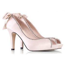 Outstanding Beads Chains Wedding/Party Stiletto Shoes
